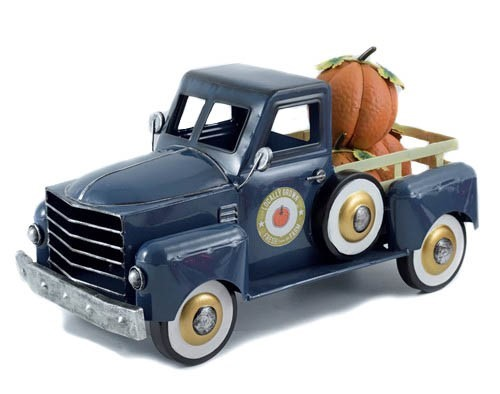 Small Pumpkin Harvest Truck in Blue