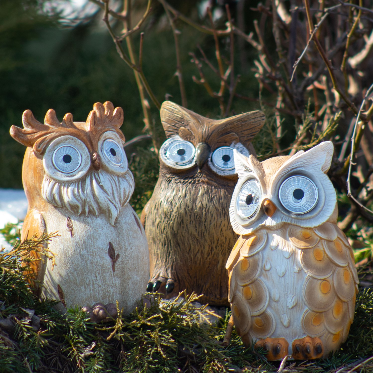 light up wall deor.htm set of 3 assorted owls with light up solar eyes  assorted owls with light up solar eyes