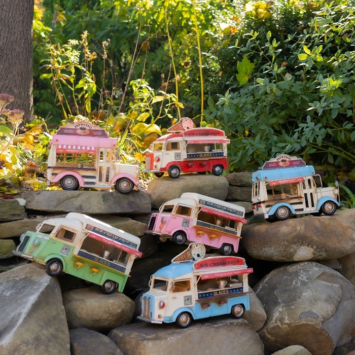 Vintage Style Ice Cream & Coffee Trucks in 6 Assorted Colors and Styles
