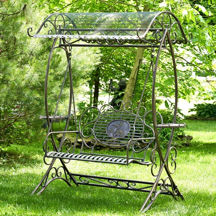 Electroplated Garden Swing Bench