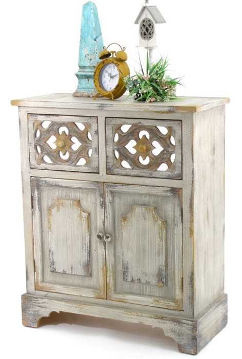 "36.2"" T. ""Country Living"" Wooden Cabinet"