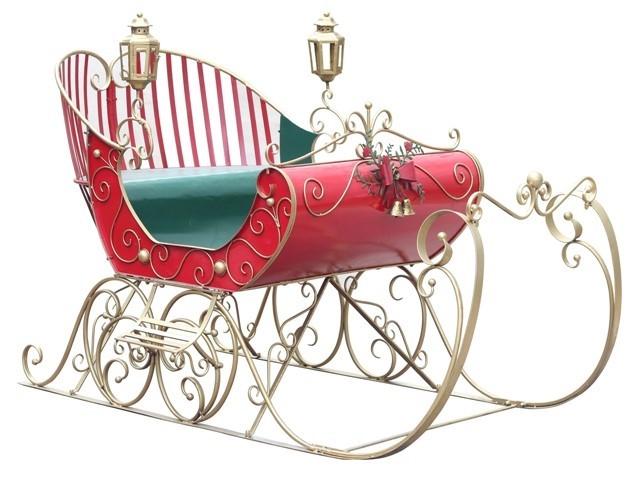 large victorian christmas sleigh luciana - Christmas Sled