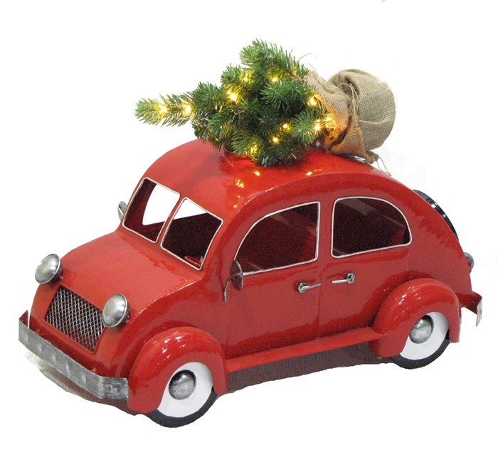 VW Bug Inspired Christmas Tree Car