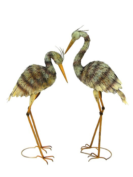 Set of 2 Large Iron Blue Herons
