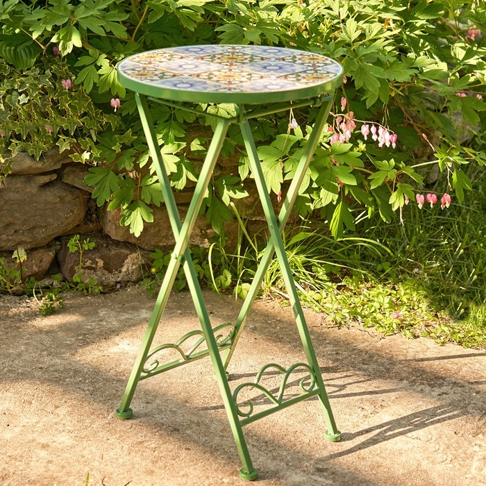 """Sydney"" Small Mosaic Accent Table"