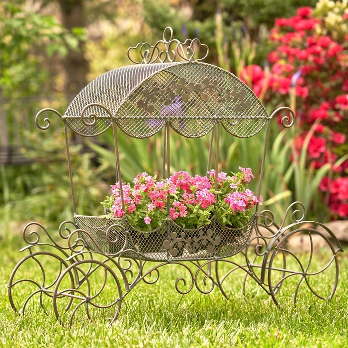 "Victorian Cinderella Carriage Flower Stand ""Stephania"""