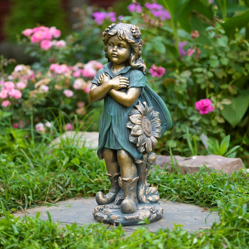 "27"" Tall Fairy Crossing Arms"