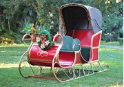 Grand Victorian Christmas Sleigh with Roof