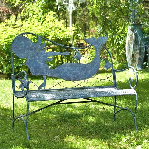 Strange Coastal Iron Mermaid Bench Gmtry Best Dining Table And Chair Ideas Images Gmtryco