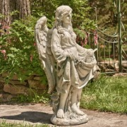 "37"" Tall Magnesium Angel Statue Holding Dress ""Stacy"""