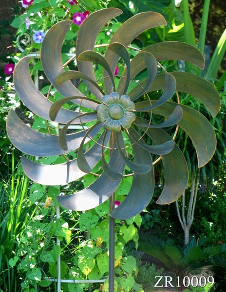 "Windmill Garden Stake ""Paula"" in Bronze"