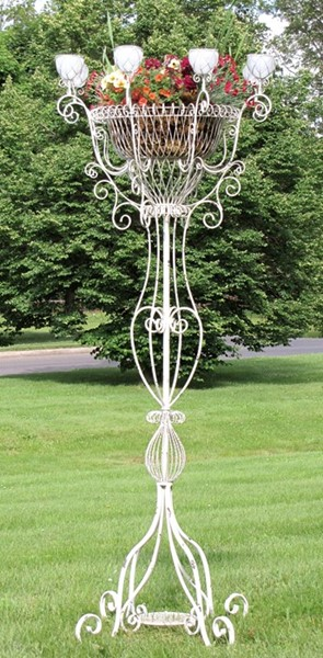 Large Iron Candle Holder/Plant Stand