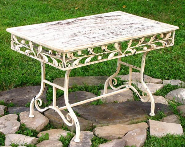 Antique Style Rectangular Garden Coffee Table