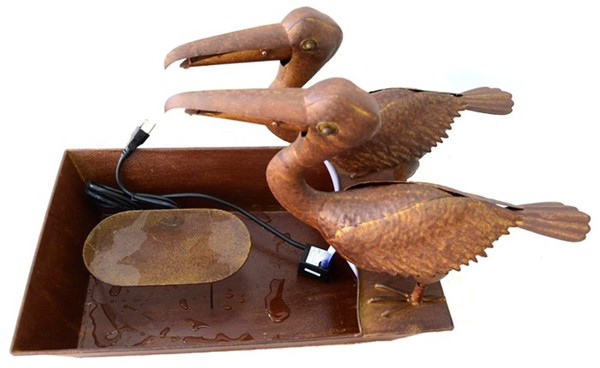 Two Pelicans Iron Water Fountain