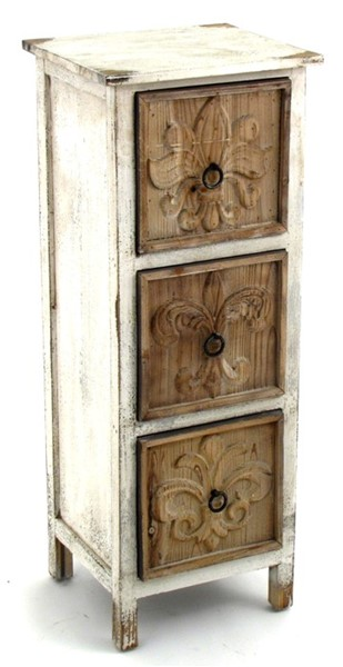 "35"" T. Distressed Wooden Cabinet"