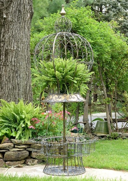 "HOT AIR BALLOON PLANT STAND ""STEPHANIA"" WITH BASKETS"