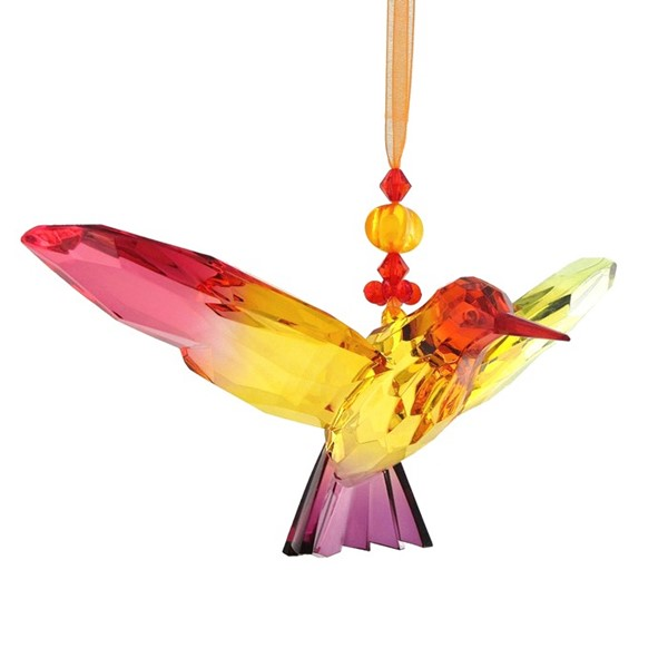 Five Tone Acrylic Hanging Hummingbird Ornament