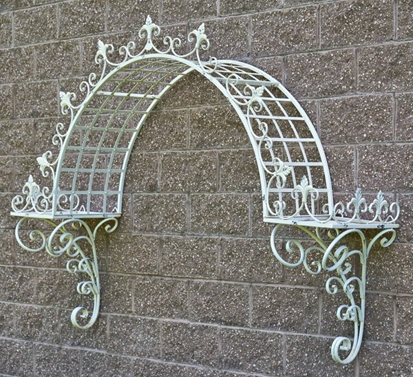 "WALL HANGING ARCH PLANT STAND ""PARIS-1968"""
