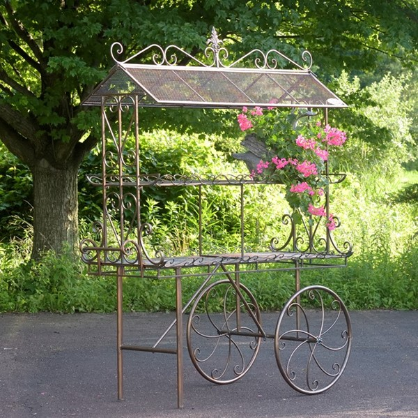 "FLOWER CART ""STEPHANIA"" - BRONZE"