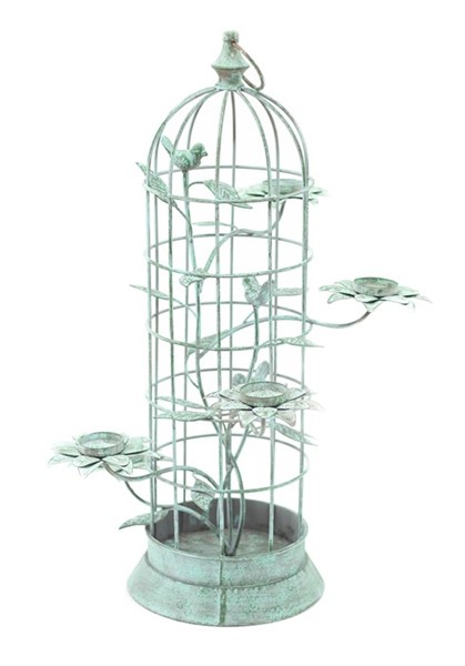 Metal Bird Cage Candle Holder