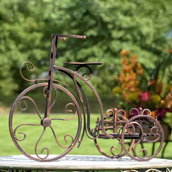 ONE POT TRICYCLE PLANT STAND, BRONZE