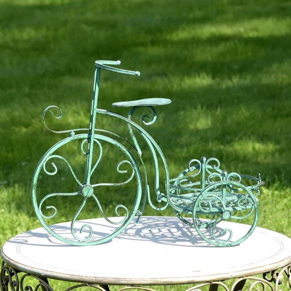 One Pot Tricycle Plant Stand in Verdi Green