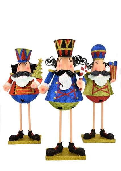 SET OF 3 CHRISTMAS NUTCRACKER FIGURINES