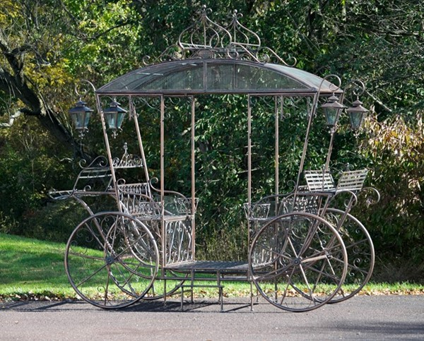 Large Cinderella Carriage Stand Bronze