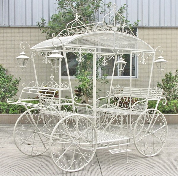Large Cinderella Carriage in Antique White