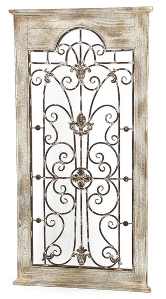 Wooden Wall Frame with Iron Decoration