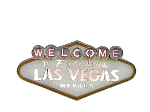 Welcome to Las Vegas Light Up Sign