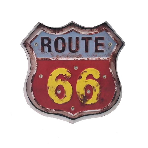 "Vintage ""Route 66"" LED Light Up Sign"