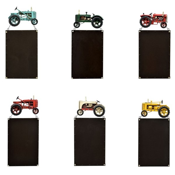 Set of 6 Tractor Hanging Magnetic Board
