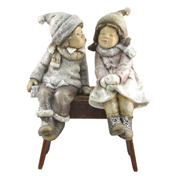 "Set of 2 ""Sit & Kiss"" Christmas Tushkas with Hanging Legs"