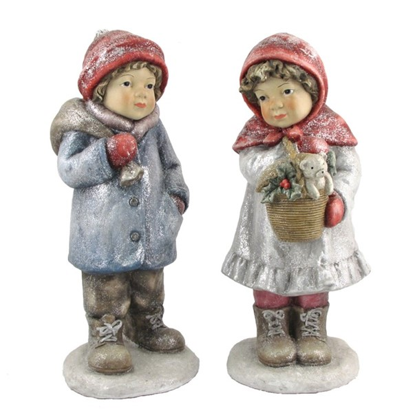 "Set of 2 ""Red Hat"" Christmas Tushkas with Teddy Bear Basket & Bag"