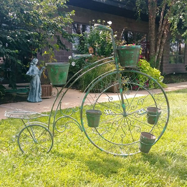 High Wheel Bicycle Planter in Verdi Green