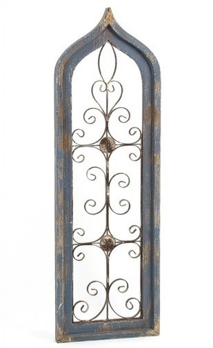Tall Antique Style Wooden Wall Decor