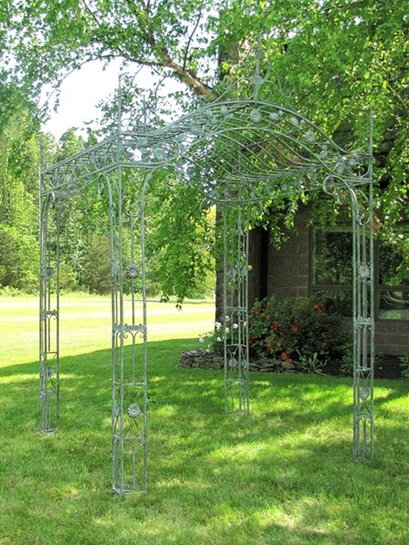 """Mahekal"" Arched Garden Gazebo in Verdi Green"