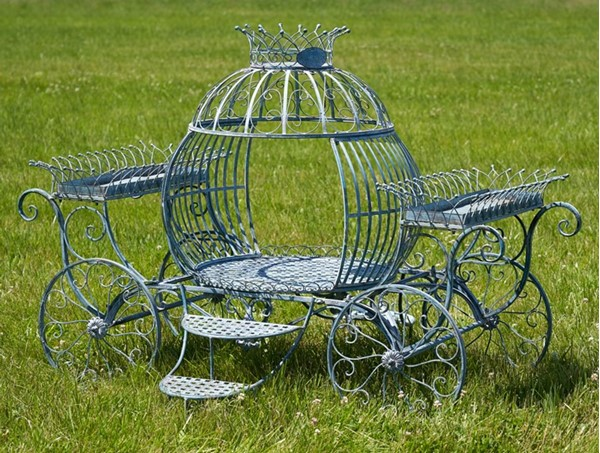 """Anastasia"" Medium Cinderella Carriage and Flower Stand"