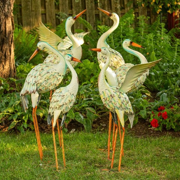 Set of 6 Assorted Great White Herons