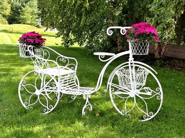 """Stephania"" Large Iron Tricycle Plant Stand"