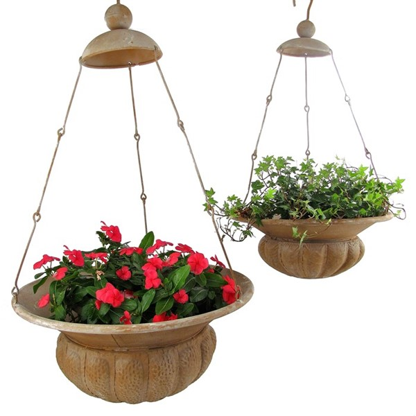 "Set of 2 Hanging Planters ""Paris 1968"""