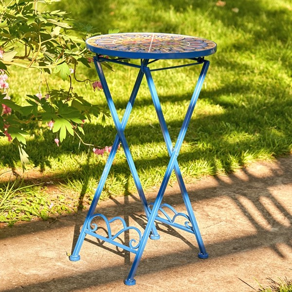 """London"" Small Mosaic Accent Table"