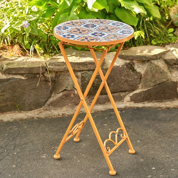 """Santa Fe"" Small Mosaic Accent Table"