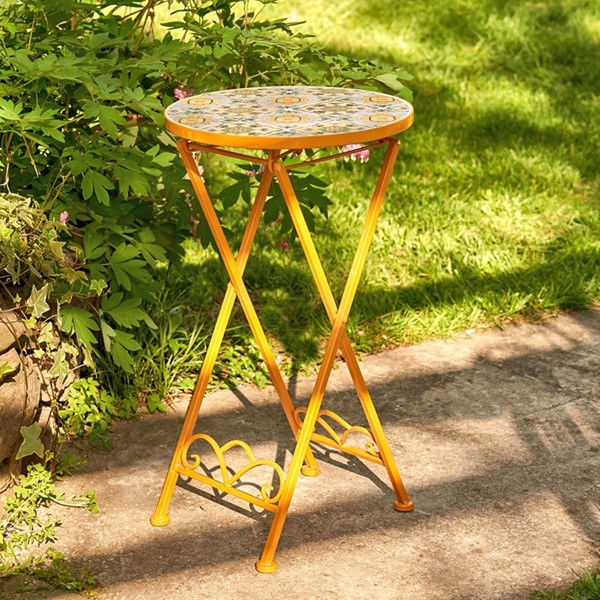 """Los Angeles"" Small Mosaic Accent Table"