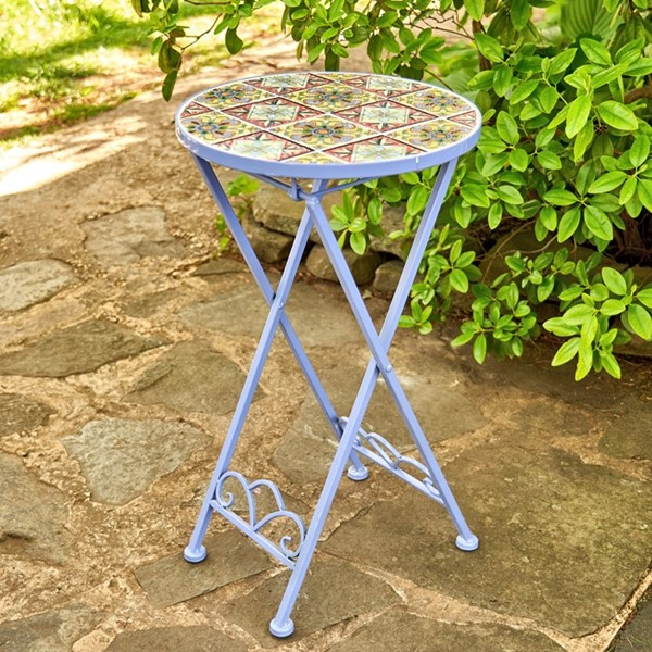 """New Orleans"" Small Mosaic Accent Table"