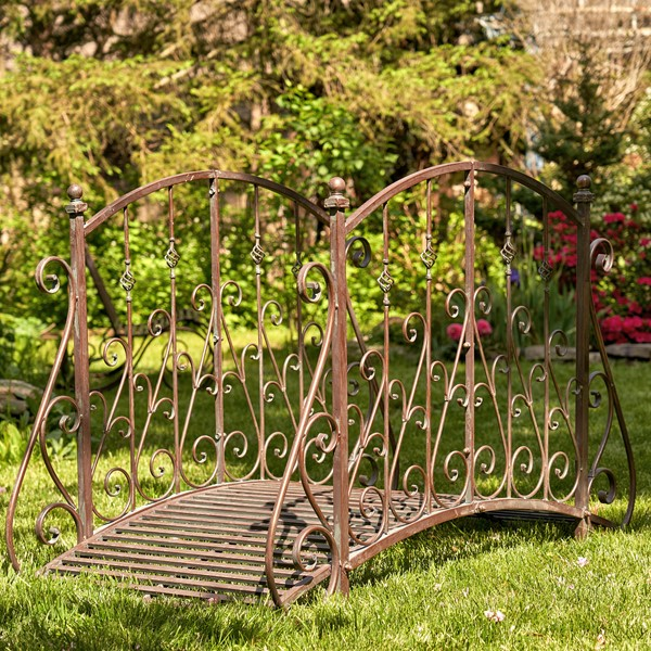 "Antique Bronze Iron Garden Bridge, ""Paris-1968"""