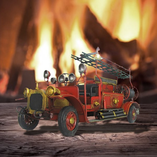 Small Vintage Style Fire Engine Decoration