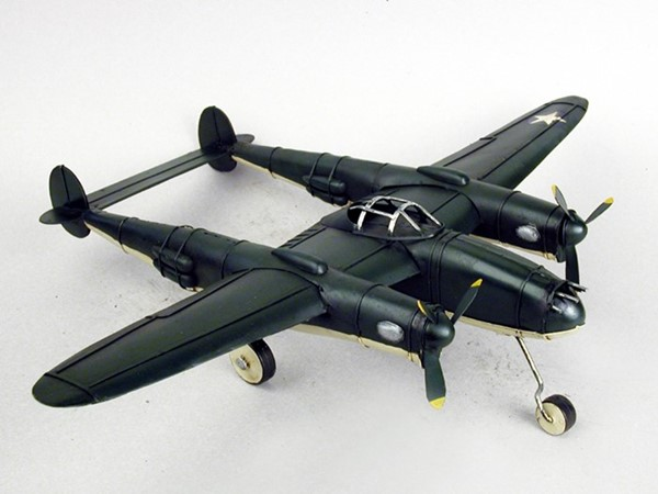 WWII Inspired Twin Boom Fighter Aircraft Model