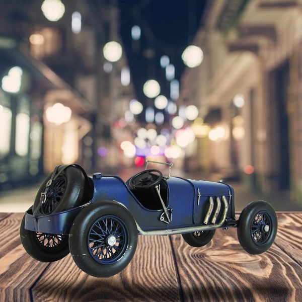 Decorative Auto Union Race Car in Navy Blue